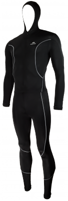 Lycra icesuit with cap