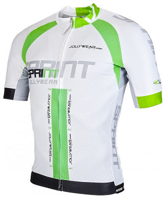 Sprint Wielershirt wit/groen