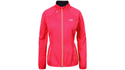 Women's running jacket - HANNELE [coral hot pink]