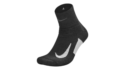 Elite Cushion Quarter Running socks black/white unisex