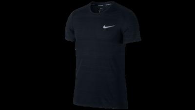 Men's Miler running shirt - black-texture
