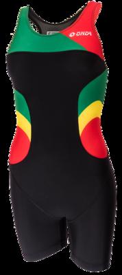 Triathlonpak Dames Pro zwart/groen