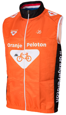 Oranje peloton Windbreaker!