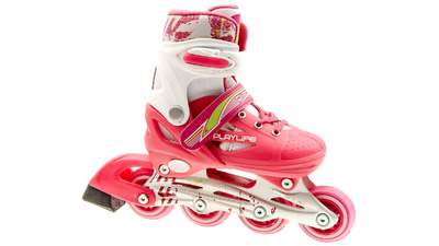 Joker Skates white/pink adjustable