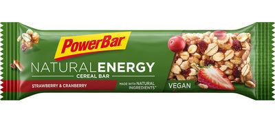 Natural energybar: strawberry canberry (vegan)
