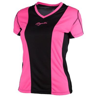 Simra Running T-shirt Dames Roze/zwart