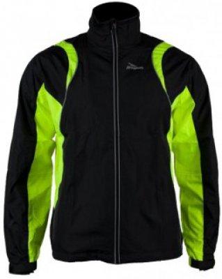 Braxton Running Jacket Kids Zwart/Fluorgeel