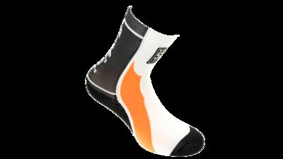 Fietssokken Calzini Zwart\Oranje\Wit