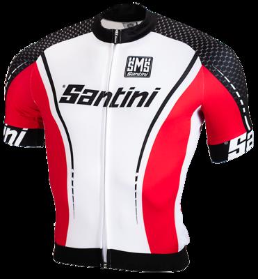 Cycleshirt Wit Zwart Rood