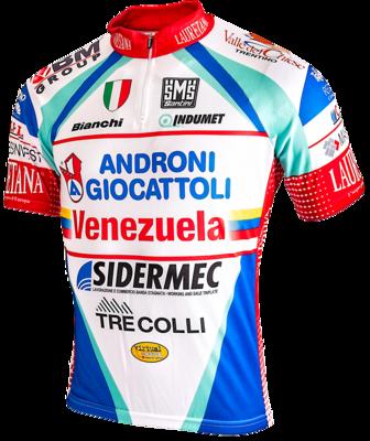 Fietshirt Androni Giocattoli Venezuela Bianchi