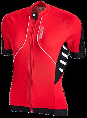 Fietsshirt Aero Wit Zwart Rood