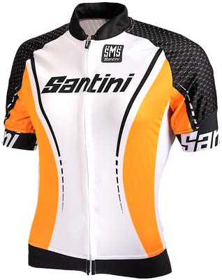 Cycleshirt Short Sleeve White Orange