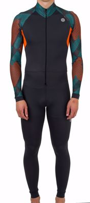 Lycra skinsuit Hexa Camo Green/Orange/Iron Grey