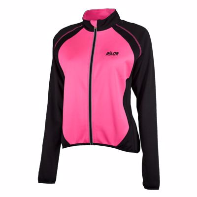 wielershirt dames korte mouw  Zwart/Pink