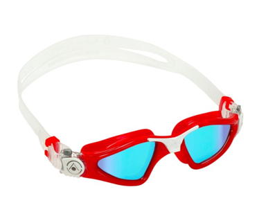 Kayenne small blue titanium mirrored lens red/white