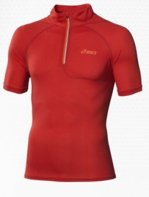 Mile SS 1/2 Zip Top 114527 rood heren