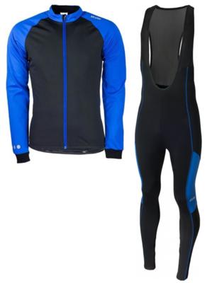 Softshell vest hiver  + Manzano Collant COMBINASION Bleu/Bleu