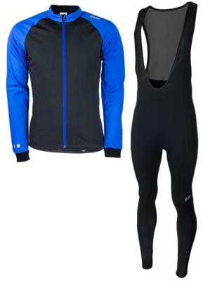 Softshell vest hiver  + Manzano Collant COMBINASION Bleu/Noir