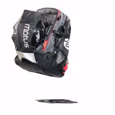 Airflow XL bag grey-red 40L