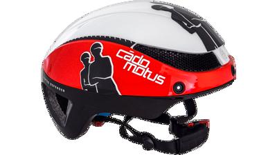 Omega aero helm white/red & black
