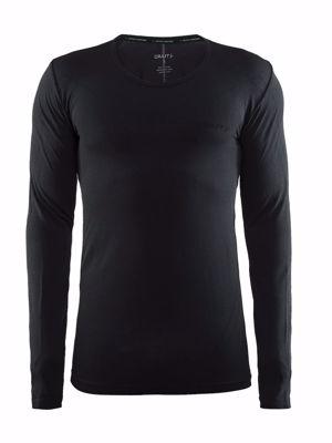 Active Comfort RN LS Men Black Solid