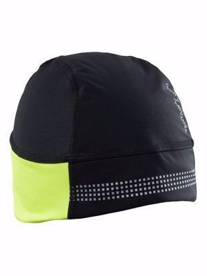Under helm muts zwart/fluo geel