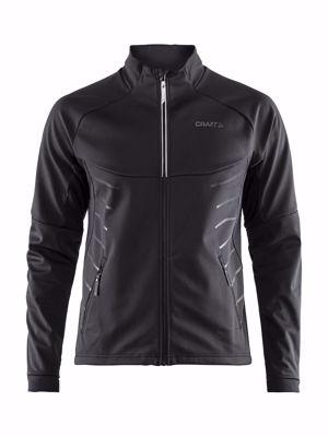 Warm train jacket Black