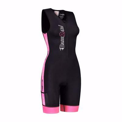 Woman's Coolmax tri-suit Black-pink