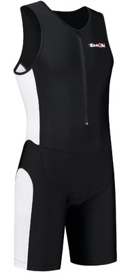 Men's tri-suit frontzip black/white