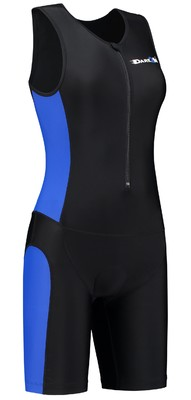 Womens tri-suit black/blue