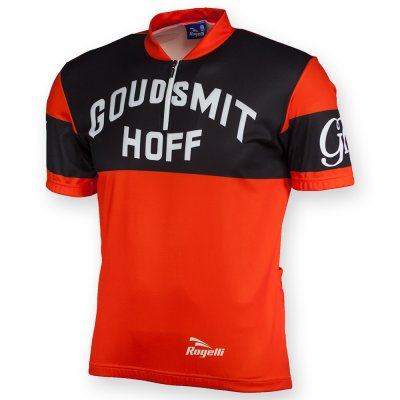 Goudsmit Hoff retro wielershirt korte mouw