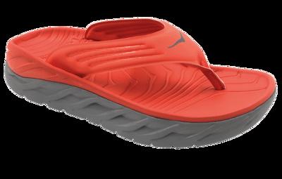 Men's Ora recovery flip - herstel slippers - Mandarin Red / Wild Dove
