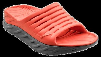 Men's Ora recovery slide - herstel slippers - Mandarin Red / Wild Dove