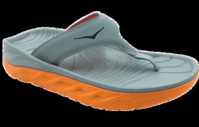 Women's Ora recovery flip - herstel slippers - Blue Haze/Bright Marigold