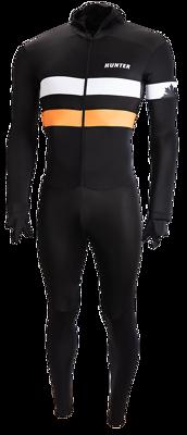 Speedsuit RTR lycra met cap Retro Black Orange