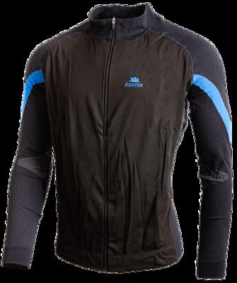Versatile jacket Black Cyan