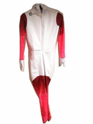 Speedskating Suit White/Brown/Pink