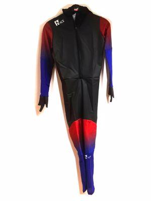 Speedskating Suit Black/Brown/Blue