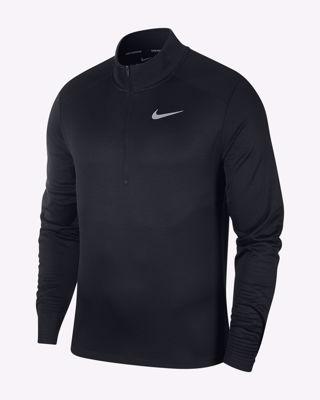 Running top 1/2 zip black