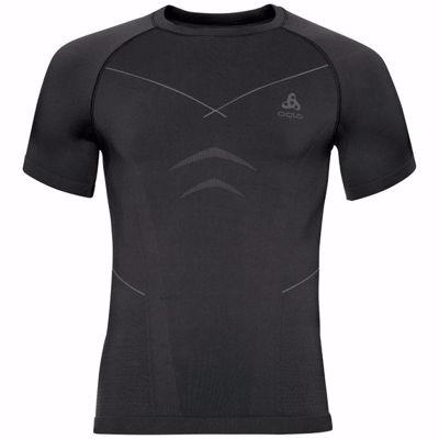 Heren Shirt Korte mouw/ Crew Neck Evolution warm, Zwart