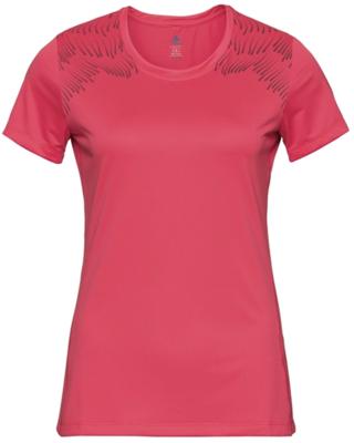 T- shirt dames basislaag top met ronde hals k/m Core Light Print