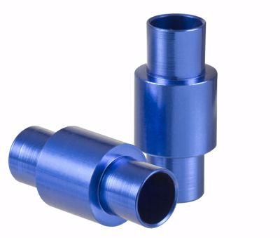 Alu Spacer 6mm Blue 8-pack
