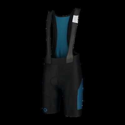 bibshort Tyro zwart/blauw