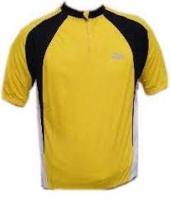 Pisa Shirt Geel/zwart/wit korte mouw