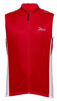 Sarno mouwloos wielershirt red/white