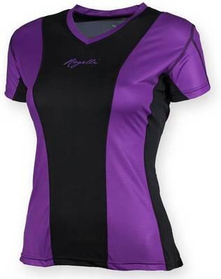Simra Running T-shirt Dames Paars/Zwart