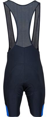 Mondovi fietsbroek met bretels zwart/blauw