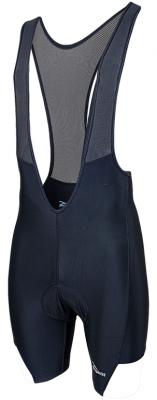 Mondovi fietsbroek met bretels zwart/wit