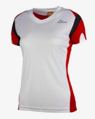 Running shirt Eabel s/s Woman White/Red/Black