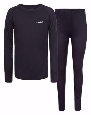 Glenn junior set black base shirt LS and base under wear tight [kids]